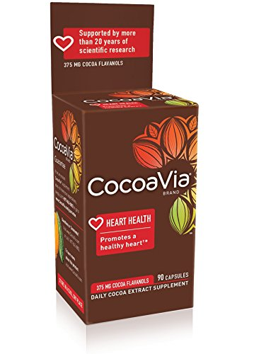 CocoaVia Cocoa Extract Dietary Supplement, Vegetarian Capsules, 30-Day Supply