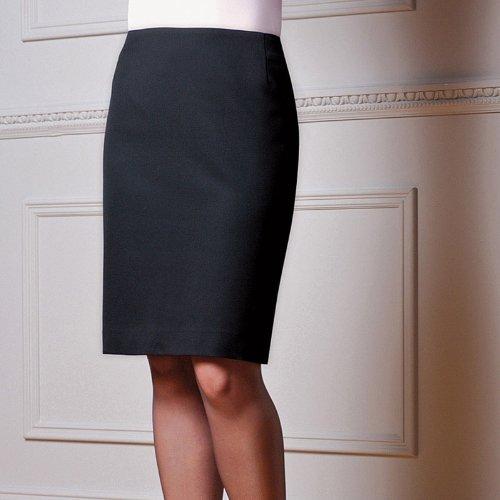 Brook Taverner Ladies Smart Formal Work Sigma Straight Skirt Black Black