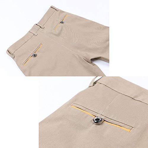 Elasticizzati Leggeri Uomo Dritti Classici Nero Casual Irinay Da Fessura Chic Pantaloni E A 5qxan6