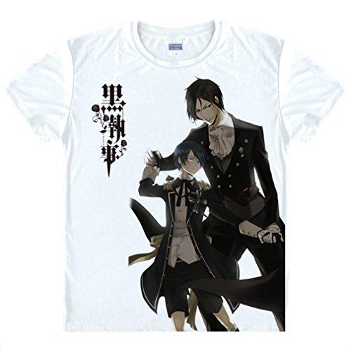 Bromeo Black Butler Anime Ropa Mangas Cortas Tee T-shirt Camisetas 167