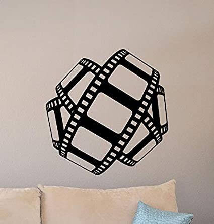 Movie Room Wall Decor.Cinema Wall Decal Film Strip Poster Movie Film Home Theater