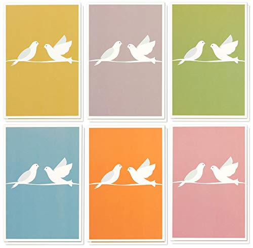 (48 Pack Sympathy Greeting Cards Assortment Condolence Note Cards Bulk Box Set - 6 Colorful Dove Designs with White Envelopes Included 4 x 6 Inches )