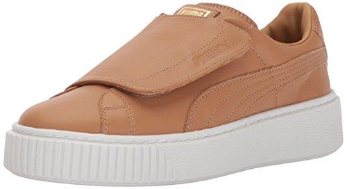 - PUMA Women's Basket Platform Strap Wn Sneaker Apple Cinnamon White, 8.5 M US