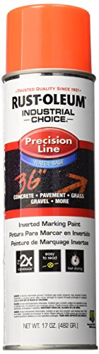 Rust-Oleum Corporation Rust-Oleum 203037 M1800 System Precision Line Inverted Marking Spray Paint, 17-Ounce, Fluorescent Red-Orange ()