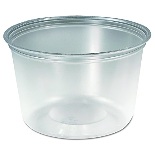 SOLO Cup Company MC160X M-Line Food Container Cups, 16 oz, Plastic, Clear (Case of 500) by Solo Foodservice
