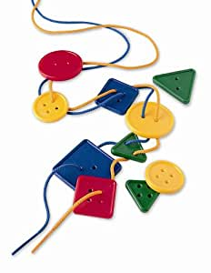 Learning Resources Attribute Lacing Buttons, Set of 48