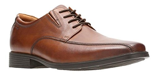 Clarks Men's Tilden Cap Oxford Shoe,Dark Tan Leather,11 M US