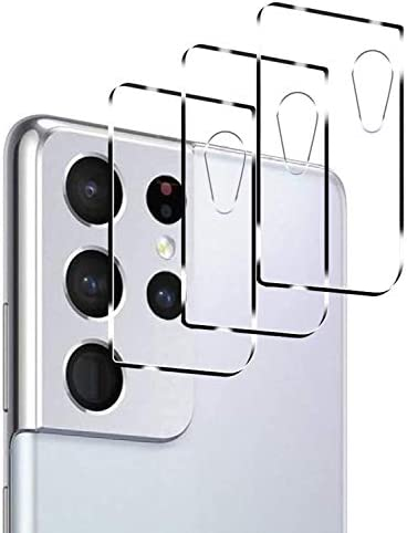 [3 Pack] Tamoria Samsung S21 Ultra Camera Protector 9H Tempered Glass Camera Lens Protector for Samsung Galaxy S21 Ultra Bubble Free Camera Cover Anti-Scratch Case Friendly Clear