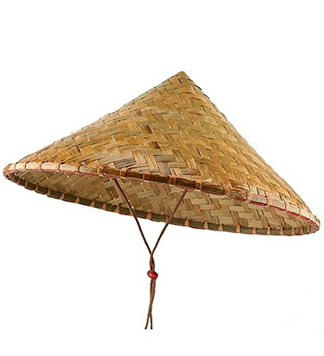 [Deluxe Coolie Hat - Deluxe Traditional Asian Conical Coolie Hat] (Halloween Costumes For Asian Women)