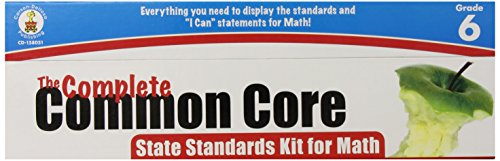 The Complete Common Core State Standards Kit for Math Pocket Chart Cards Gr 6