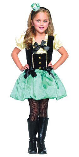 Mad Hatter Tea Party Princess Child Costume Size Large ()