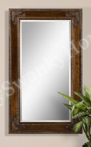 Oversize ORNATE DARK Wood Mirror product image