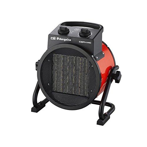 Orbegozo FHR 3050 Calefactor Ceramico Profesional con 2 Potencias de Calor, 3000 W, Negro/