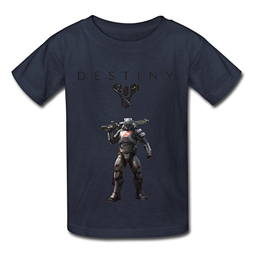 Price comparison product image QMY Kid's Geek Destiny Logo T-shirts Size S Navy