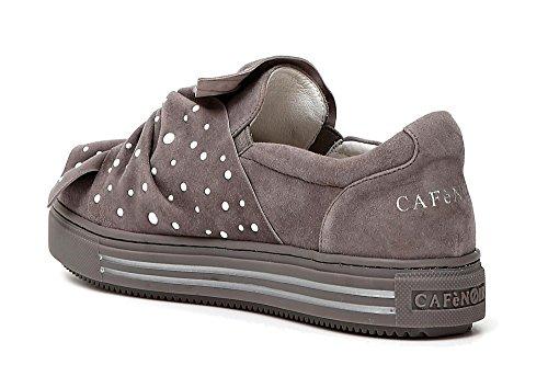 Cafènoir Pantofole Grigio Donna 016 A Collo Kdd529 Alto 11SqrPU