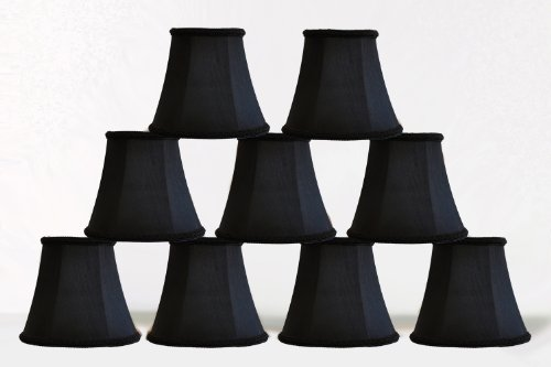 chandelier mini lamp shade 5 inch bell clip on black prodotalk. Black Bedroom Furniture Sets. Home Design Ideas