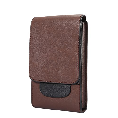 Premium Vertical PU Leather Pouch Case Belt Clip Holster for Huawei Mate 20 Lite/Huawei Honor 8X / iPhone XS Max/Motorola One/One Power/LG G7 Fit/One / Sony Xepria XZ3 / HTC U12 Life (Brown)