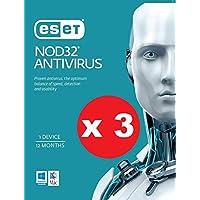 3 X Pack of ESET NOD32 Antivirus OEM 1 Device 1 Year Download