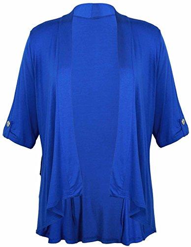 Funky Fashion Shop - Camiseta de manga larga - trenca - para mujer azul real