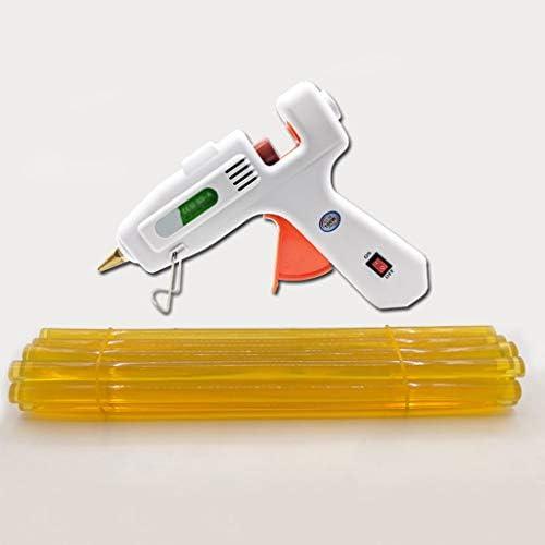 CHenXin- ホットメルト接着剤、スティックのりと銅ノズルを、DIY高温・高速暖房に使用することができガン、100W工業用グレードホットグルーガンキット、工芸、ホワイト ホットグルーガン (Color : C)
