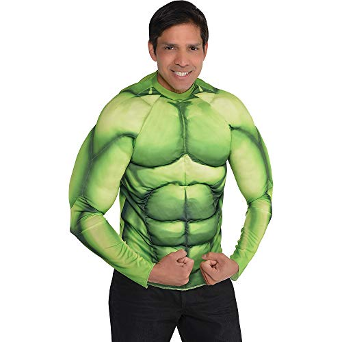 Suit Yourself Hulk Muscle Shirt for Adults, One Size Fits up to Men's Size 44, Padded to Give You a Beefy Look ()