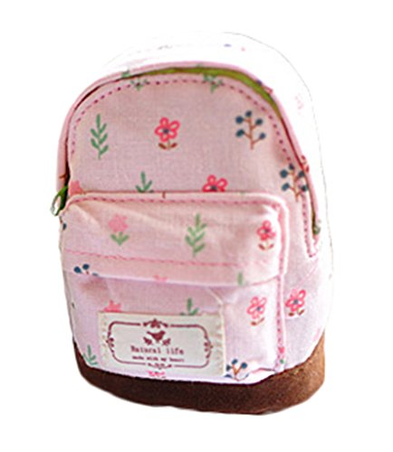 Rose Mini Femme monnaie 12x9cm Sac Cartable Bigood Fleur Décoration Fille Porte U7Oqa4cvwx