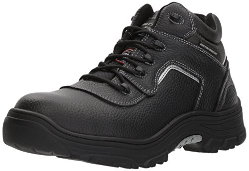 - Skechers for Work Men's Burgin-Sosder Industrial Boot,black embossed leather,8 W US