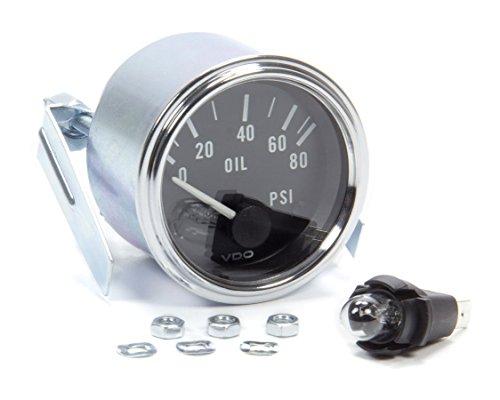 VDO 350-303 Elec. Oil Pressure Gauge, 80Psi Vdo Oil Pressure Gauge