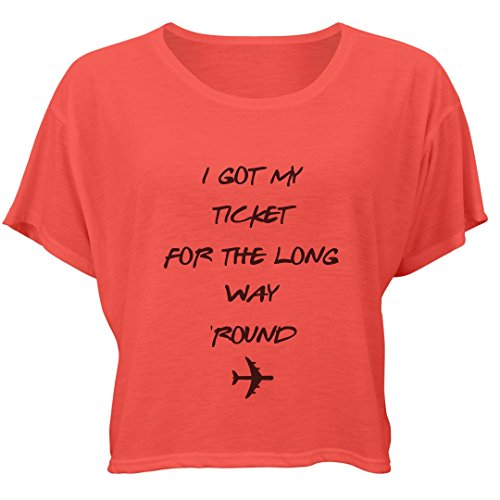 Customized Girl You're Gonna Miss Me: Bella Ladies Flowy Boxy Tee