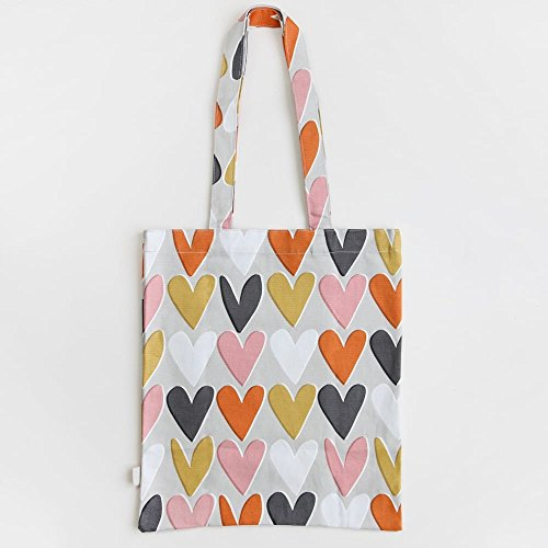 Caroline Gardner Layered Hearts Canvas Tote Bag