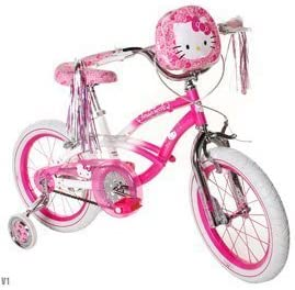 Hello Kitty Girls ' Bike 16インチwithトレーニングWheels、バッグand Streamers。ピンク&ホワイトGirls Bike on saleA Girls Bike Which Helpsバランスとコーディネーション。GREAT KIDS bike. by Hello Kitty
