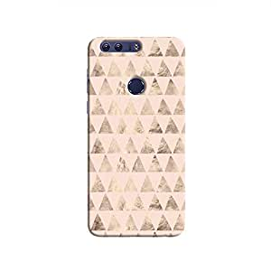 Cover It Up - Brown Light Pink Triangle Tile Honor 8 Hard Case