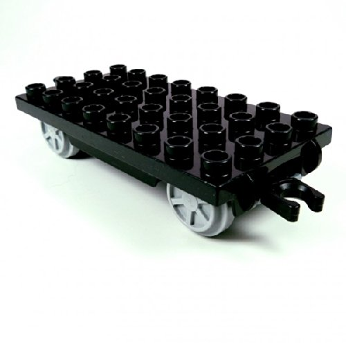 Lego Duplo Eisenbahn Anhänger schwarz für Cargo Waggon Intelli Zug E38