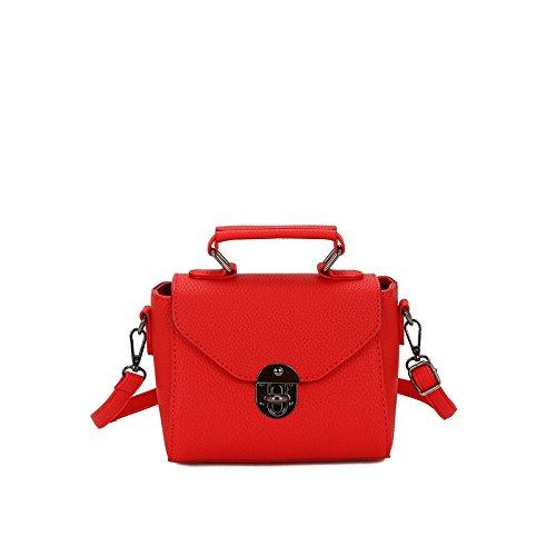 Pacchetto LiZhen femmina di autunno e inverno nuova marea coreano elegante e versatile mini party confezioni tracolla messenger bag a mano borse donna, rosso
