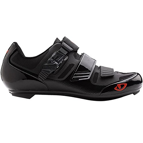 Black Mens Bike Shoes - Giro Apeckx II Cycling Shoes Black/Bright Red 46