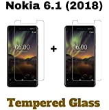 M.G.R.J® Tempered Glass for Nokia 6.1  2018    Pack of 2