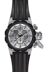 Invicta Men's Russian Diver Black Silicone Band Steel Case Quartz Silver-Tone Dial Analog Watch 21677