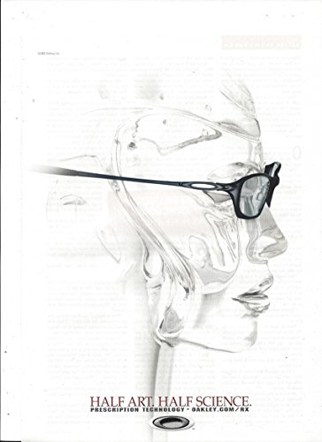 PRINT AD For 2002 Oakley Sunglasses Half Art Half - Sale Sunglasses Oakleys For