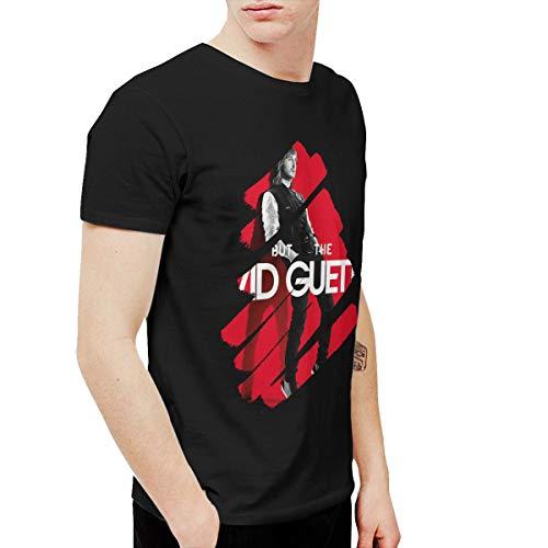 BowersJ David Guetta Men's Tees Black 6XL (Best Memories David Guetta)