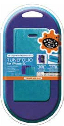 6d093d3894 Amazon | TUNEWEAR TUNEFOLIO for iPhone 5c スカイブルー/パープル ...