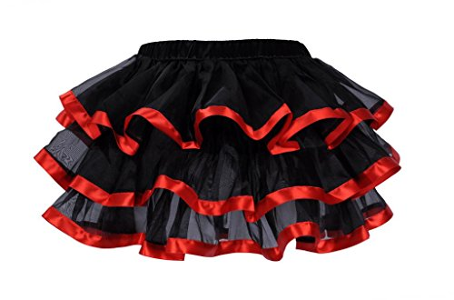 Lotsyle Mutli Layer Ruffle Petticoat Corset