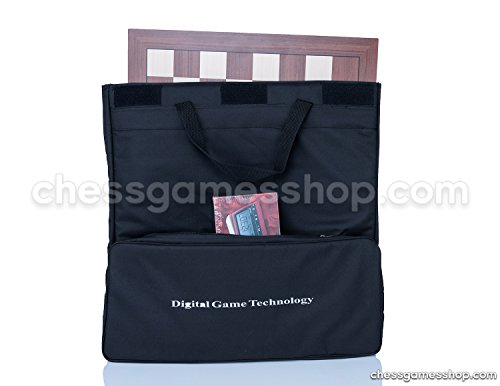 DGT Chess Carrying Bag BLACK for board, pieces, clock and accessories - suitable for e-boards or GO game to - BLACK