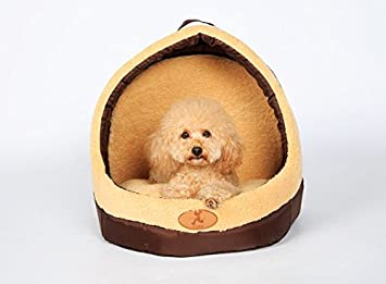Estilo de la casa de la perrera perrito Gato caniche Pome suave cama Camel: Amazon.es: Productos para mascotas