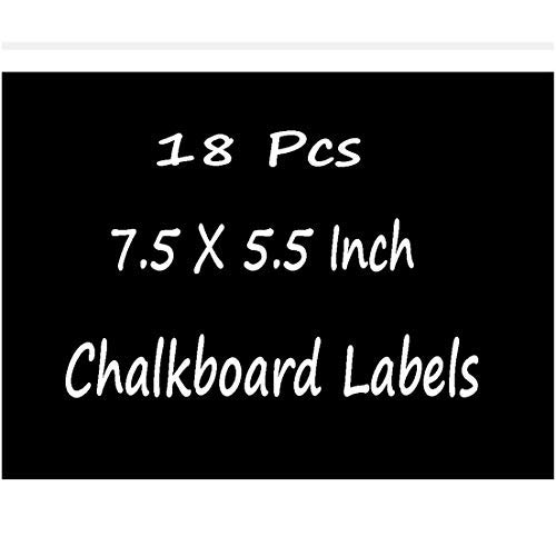 Chalkboard Labels Extra Large - Chalkboard Stickers Erasable & Reusable Rectangle Black Board Label Waterproof Adhesive Stickers for Big Bins Boxes Jars Containers - 7.5