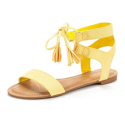 Sandali Piatti Da Donna Gladiator Sandalo Con Cinturino Alla Caviglia