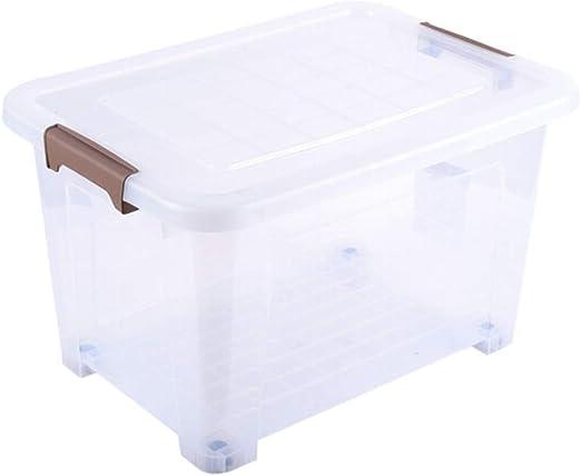 YANQ Caja de Almacenamiento de plástico Transparente Cierre y ...