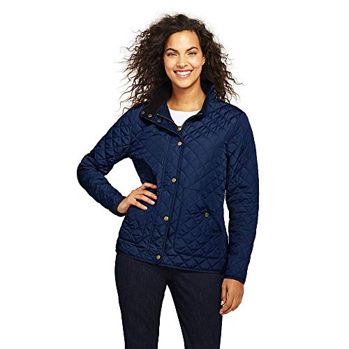 - Lands' End Women's Quilted Barn Insulated Jacket, L, Deep Sea
