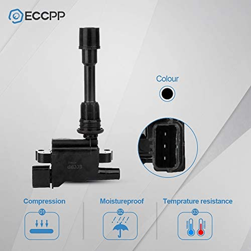 ECCPP Replacement for New Ignition Coil on Plug for 2001-2003 Mazda Protege UF407 5C1208 C1340