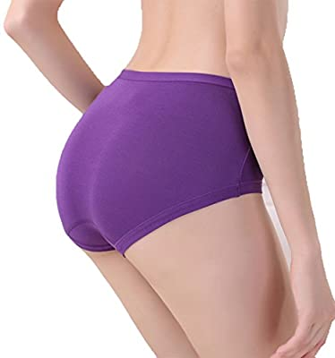 Warm Sun Women's Bamboo Viscose Fiber Multi Pack Plus Size Stretchy Soft Breathable High Middle Waist Panties Size S-3XL