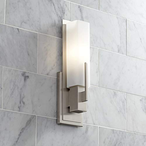 Midtown Modern Wall Sconce Satin Nickel 15